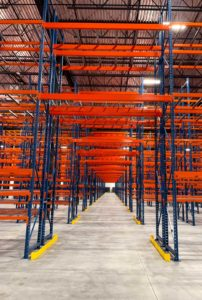 North American Steel Pallet Racking System Aisle